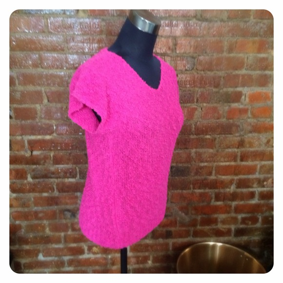 Vintage Sweaters - HALF OFF SALE | Bright Pink Sweater