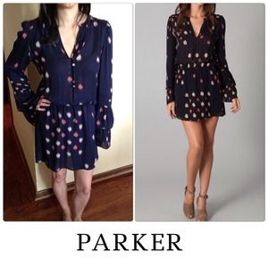 RESERVED BUNDLE PARKER  Navy Print Dress