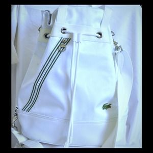 NWOT Lacoste 3-way White Bag