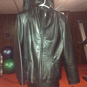 Cole Haan City black leather jacket 6