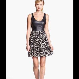 BB Dakota Dresses & Skirts - ✨HPx2✨ BB DAKOTA faux leather bodice dress
