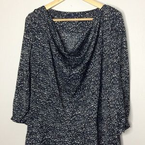 Gap Quarter Length Sleeve Draped Dress Size 8