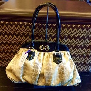 Beverly Feldman Handbags - NWOT snake skin  BEVERLY FELDMAN  purse