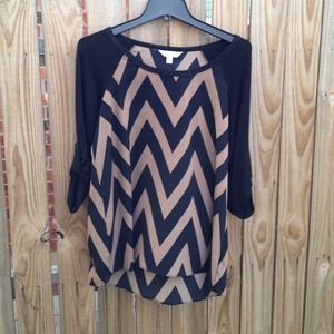 Charming Charlie Tops - Chevron Blouse/Top Like New!!