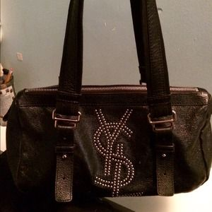 80% off Yves Saint Laurent Handbags - Authentic YSL black studded ...