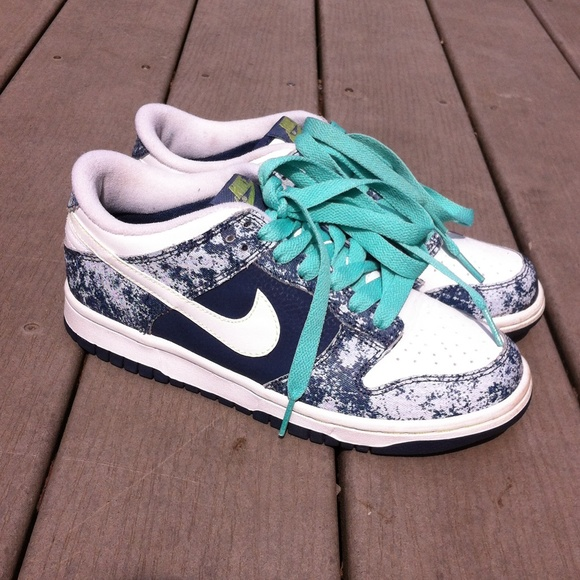 Mint green nikes with black laces dress