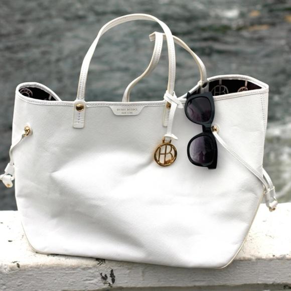 White Henri Bendel Leather Tote