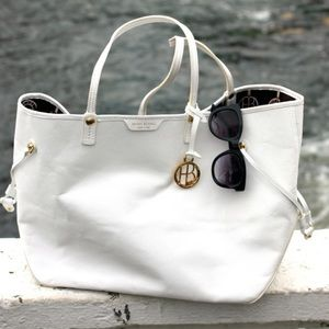 White Henri Bendel Leather Tote