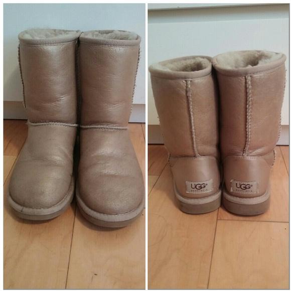 metallic ugg boots