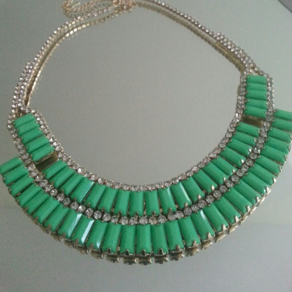 pastel mint green statement necklace os from posh s closet