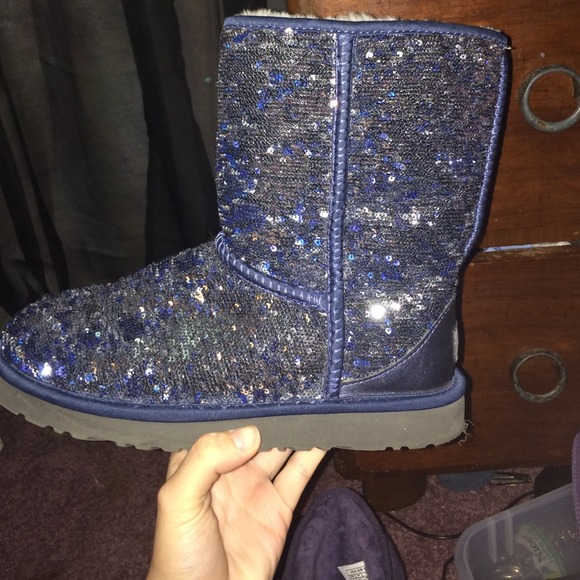 UGG Shoes   Sparkly Glitter Blue And