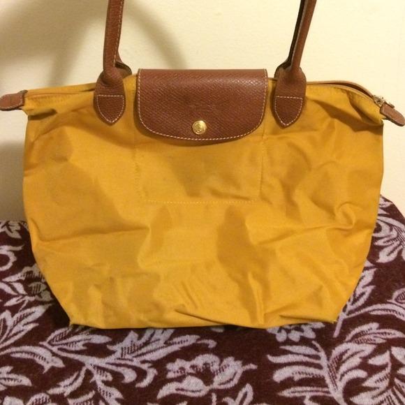 Longchamp Handbags - Longchamp Le Pliage Tote in mustard yellow 1092e42726b01