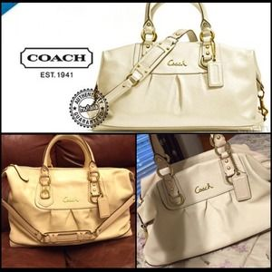 Coach Ashley Leather Satchel 