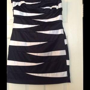 🎉SALE🎉 Love Tease Zebra Stripe Cocktail Dress