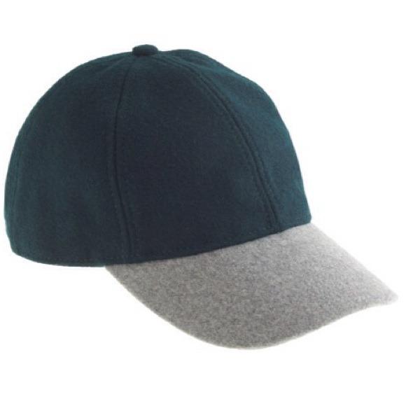 491bd13b8 J Crew Colorblock Wool Baseball Cap (green & gray)
