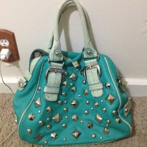 Turquoise handbag- loved condition!