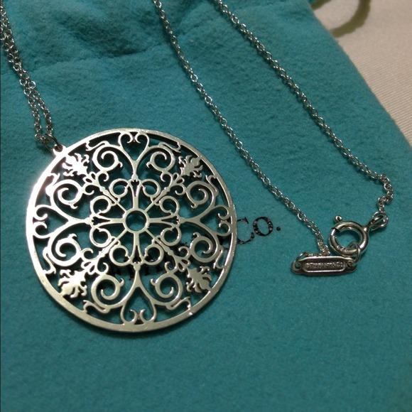 Tiffany Enchant round pendant in Rubedo metal, extra large Tiffany & Co.