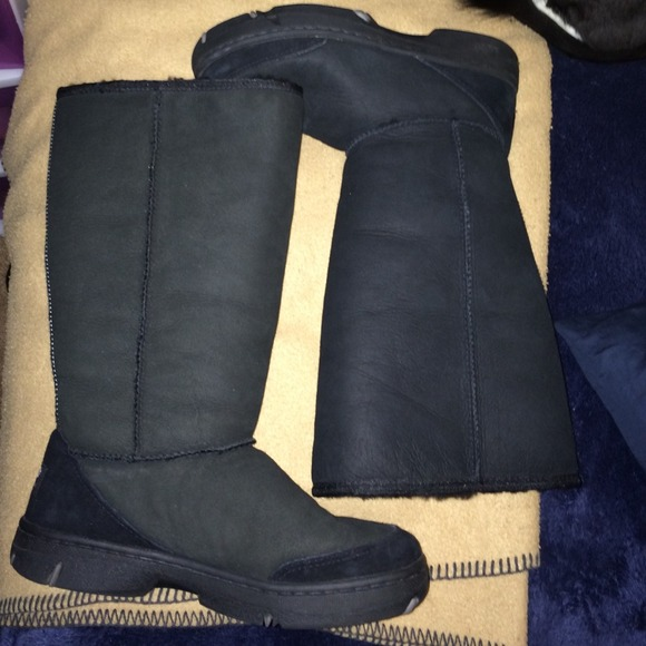 ugg shoes womens classic tall tasman boots in black poshmark rh poshmark com