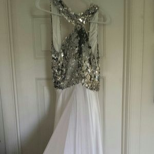 Sparkling Silver & White Cocktail/Gown