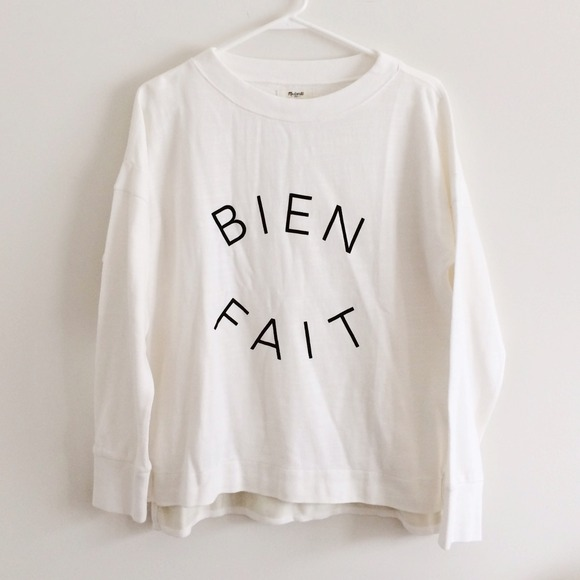 Madewell Bien Fait sweater pullover size M
