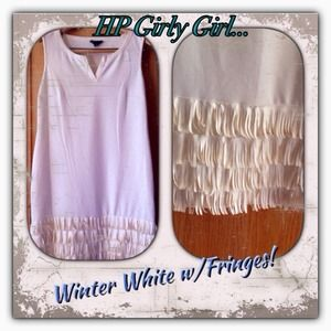 Spense Dresses & Skirts - Winter White Dress w/4 layers of fringes. NWOT