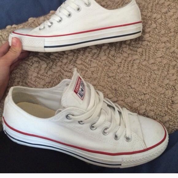 White Converse size 6 mens, 8 women's