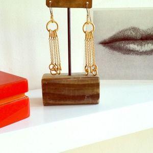 Vermeil gold chandelier earrings