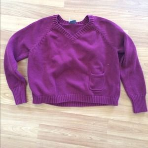 maroon urban outfitters croppedish sweater
