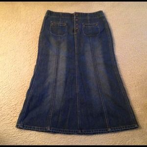 Long Denim Skirt