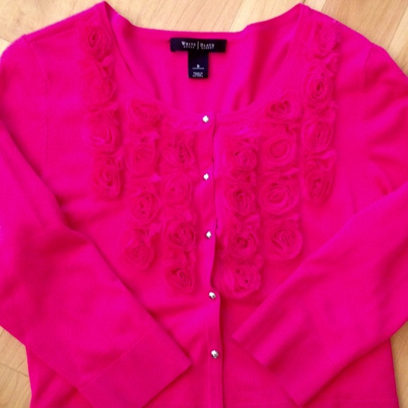 89% off White House Black Market Sweaters - Brand New Hot Pink ...