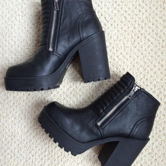 h m h m platform boots from s closet on poshmark