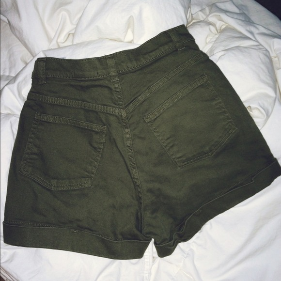 American Apparel - American Apparel Olive Green High Waisted ...