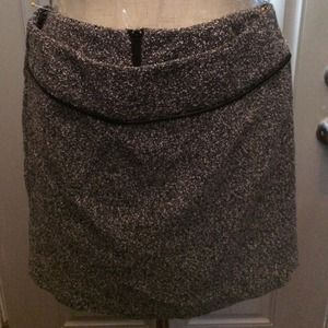A. Byer Dresses & Skirts - Boucle Mini Skirt with Faux Leather Piping!
