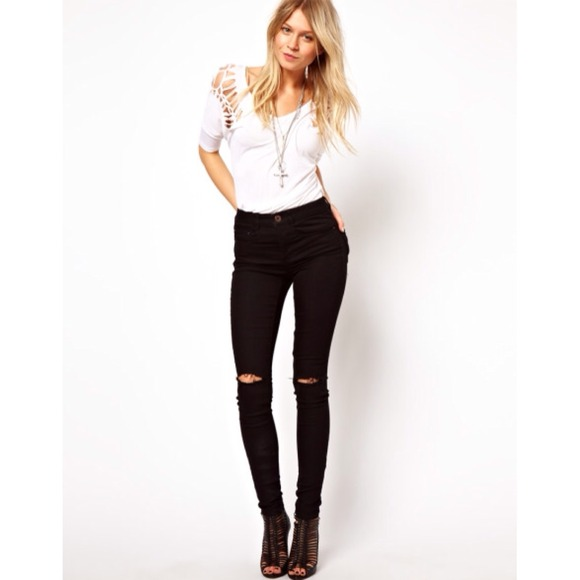 56% off ASOS Denim - Asos Ripped Knee Destroyed Jeans NEW from ...