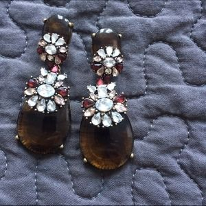 Bauble Bar Jewelry - Tortoise & Rhinestone Earrings
