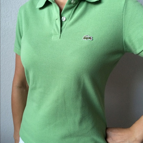 1319f53239 Women's SS Off Green Lacoste Polo Shirt Size 40