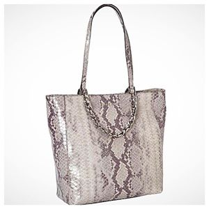 Michael Kors Python Embossed Harper Tote NWT