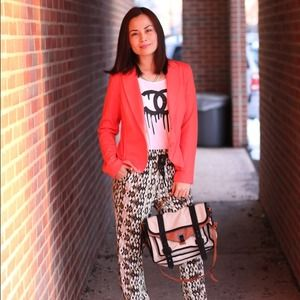 Jackets & Blazers - Coral/red-orange Blazer