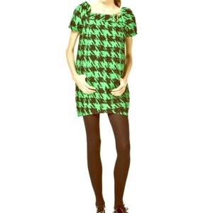Green Houndstooth Dress