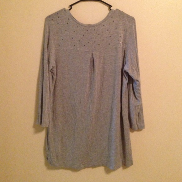 Faded Glory Cute Gray High Low Shirt From Mariel S
