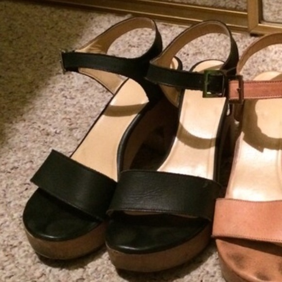 db7af26a440 American Apparel Shoes - Black Wooden heel Sandals