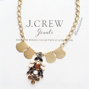 SALE! J. Crew Statement Crystal Shield Necklace.