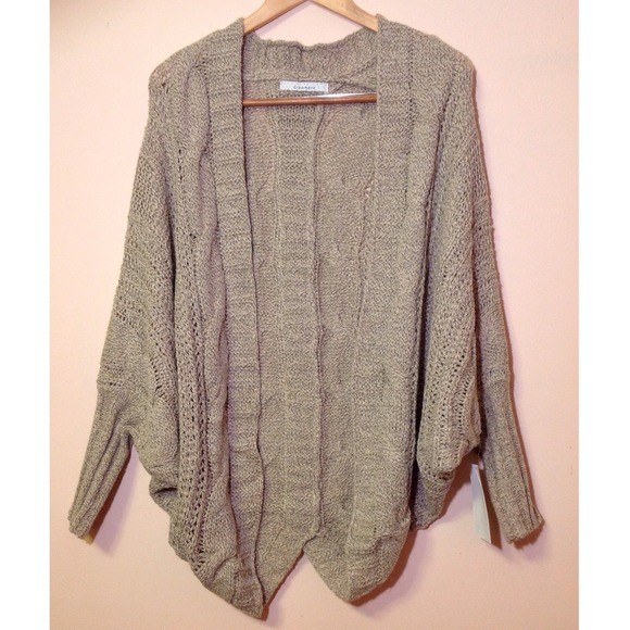 60% off Sweaters - $30 FLASH! Tan batwing oversized cardigan ...