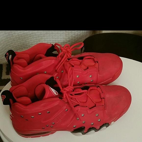 red barkleys mens nike boat shoes