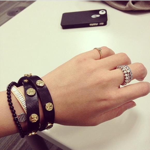 Tory Burch Leather Double Wrap Bracelet wGMKH22