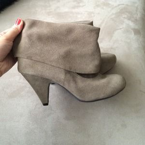 Steve Madden taupe booties.
