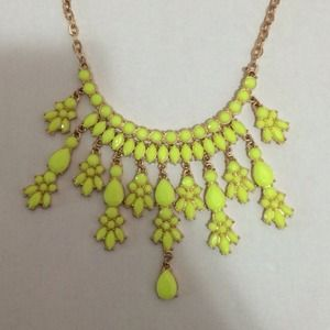 Neon Yellow Stament Necklace