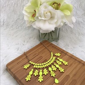 Neon Yellow Stament Necklace