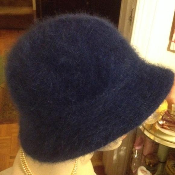 c796bb023889a Accessories   Hat Vintage Style Blue Angora Cloche Hat   Poshmark