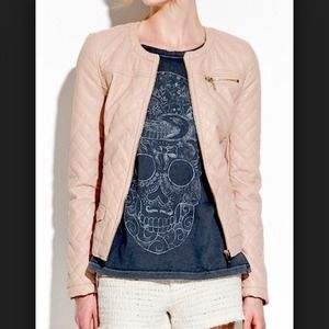 ZARA TRF Quilted Faux Leather Jacket
